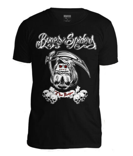 Bones & Spiders - The Reaper - Wolf Spider - T-Shirt - Spinnen Biker