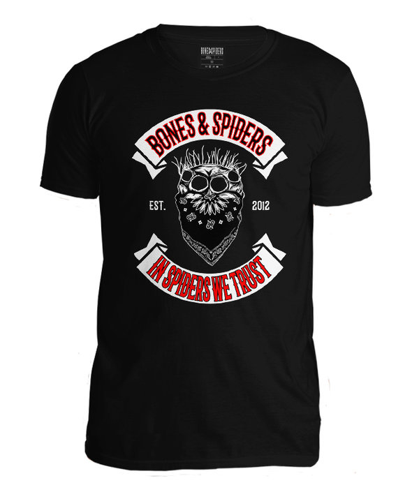 Bones & Spiders - Outlaw Jumping Spider Skull - T-Shirt - Spinnen