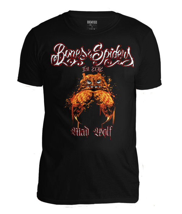 Bones & Spiders - Mad Wolf - Wolf Spider - T-Shirt - Art Collection